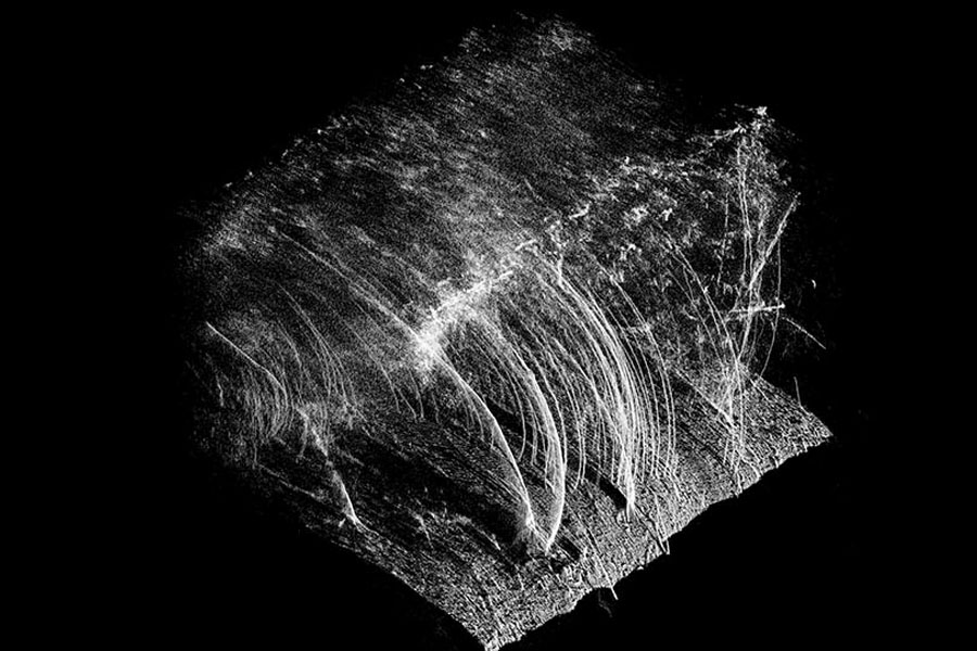 Image depicts an experiment with LIDAR photography