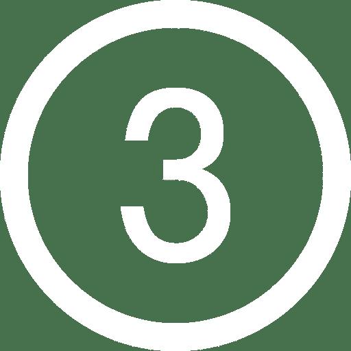 white numeral 3